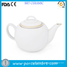 Original Gold Rim Stylish Teapot with Custom Design