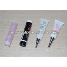 cosmetic packaging plastic tubes with metal screw caps stand up cap