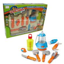 Boutique Spielhaus Plastik Spielzeug-Camping Set mit Multifunktionsmesser