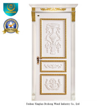 European Style Solid Wood Door with Carving for Interior (DS-042)