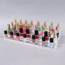 Soporte de esmalte de uñas acrílico transparente