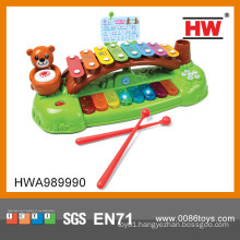 Lovely child plastic piano with music and light xylophone music notes