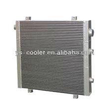 Intercambiador de calor tipo aleta de aluminio para compresor de tornillo