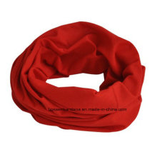 Polyester Microfiber Red Double Side Dyed Red Seamless Multifunctional Tube Scarf