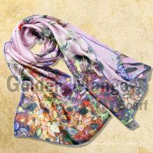 Bufandas de seda de la venta al por mayor de la impresión digital de la manera del 100%