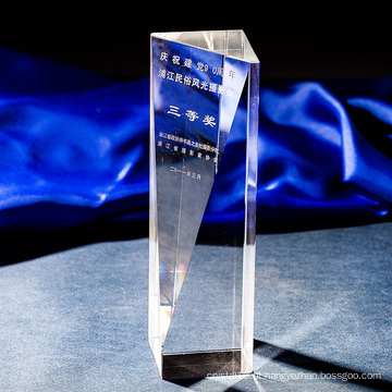 K9 Simples Cristal Troféu Cristal Coluna Prémio-Gravura Livre