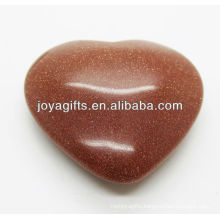 Natural goldstone shape heart 35MM