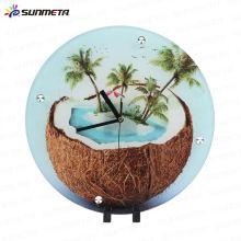 Yiwu Sunmeta Hot Sell Innovative Sublimation Glass Clock blank material