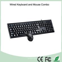 Accesorios de computadora Teclado USB cableado y ratón óptico (KB-1888C)