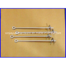 Galvanized Auger Style Earth Anchor, Ground Anchor