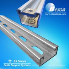 Canal de canalizado unidtrut Unistrut Uni del canal del canal C del puntal de acero galvanizado de la inmersión caliente con CE, SGS, certificados de la UL