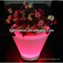 macetas de jardinera con luz led macetas luminosas de jardinera LED con macetas led de cambio de color