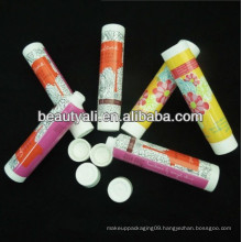 round screw on plastic PE tube for cosmetic packaging