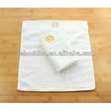Alta qualtity logotipo personalizado embroideried toalha de mão de algodão por atacado