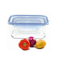 Rechteckige Aufbewahrungsbox aus Glas für Microvave