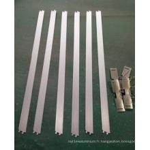 Profilé en aluminium pour lampe à calandre