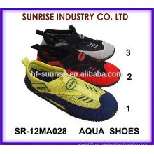 SR-12MA028 Zapatos surfing del nuevo diseño de los hombres populares zapatos al por mayor del agua zapatos del agua de los zapatos del agua que practican surf