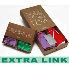 Günstige innere Kleidung Unterwäsche Kraftpapier Karte FSC Frauen Geschenkbox
