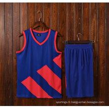 L'usage fait sur commande de basketball d'impression de Jersey de basket-ball de chemise de sport de l'homme en gros 100% polyester