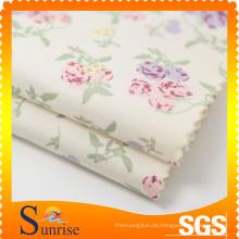 Drucken Sie Baumwolle Spandex Popeline Stoff für Kleidung