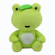 Cute Kids Soft Animal relleno juguete rana verde juguete de peluche