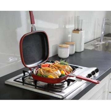 double sided aluminium fry pan diameter 30cm