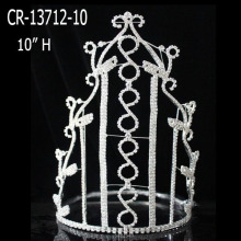 Nueva moda Rhinestone Clear Crystal Girl Crowns