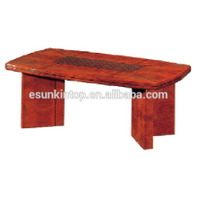 Large wood coffee table for office used. High quality wood table for sale (T001)