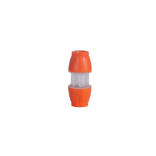 10mm x 10mm plastic quick straight pe through connector hdpe fittings