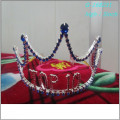 Atacado Fashion pearl grande desfile coroas de papel completo tiaras de papel personalizado
