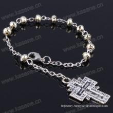 Clear Plastic Decade Rosary Bracelet