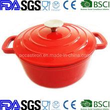 Enamel Porcelain Round Cast Iron Casserole 3qt 23cm China Factory