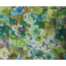 900d Polyester Printed Flower Fabric with PU Coating