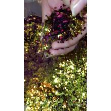 Atacado granel PET mudança de cor brilho para ofício mudança de cor Camaleão purpurina em pó