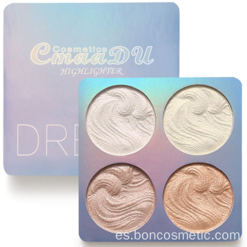 Highlighter Powder Palette Face Contour Shimmer Maquillaje Brillo