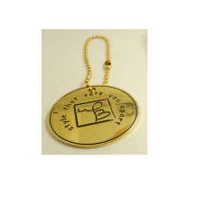 Etiqueta del bolso Etiqueta redonda del metal de la etiqueta redonda