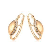 95038 xuping novo design antigo real 18k ouro cor strass senhoras brincos de argola