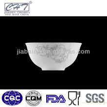High quality durable porcelain round soup bowl with flower decoration