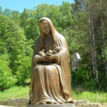 large outdoor sculptures metal craft bronze virgin mary statue