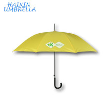 Ad Rain Gear Straight Sunny And Rainy Dual Use 10Ribs Promotional Umbrella with Logo Yellow Umbrella Wholesale Chinese Supplier
