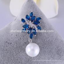 Broche en verre saphir en gros petites broches perle broche pour les invitations de mariage