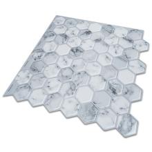Etiquetas engomadas autoadhesivas del azulejo de la pared de la cocina del vinilo 3D