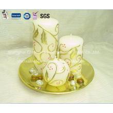 Fancy Printed Pattern Bougies de Noël à vendre