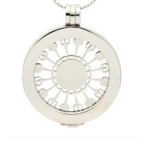 Снежинки форма поперечного сечения пластины медальон монета кулон ожерелье для женщин
