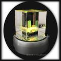 3D Лазерная травленная кристалл buddilng кристалл ремесла Подарки с поворота Светодиодные база
