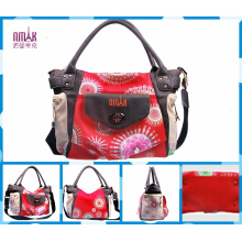 New Designer National Style Print Flower Tote Bags (F51)