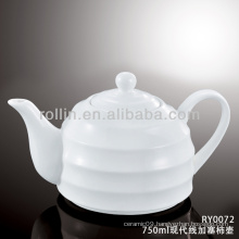 Japan style good quality chinese modern line porcelain tea pot