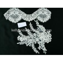 Bridal bordado guipure chantilly cordão tecido de renda para vestido de noiva