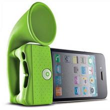 Altavoz Siilicone de diseño clásico de cuerno para iPhone