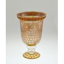 Украшенный подсвечник с мозаикой из стекла